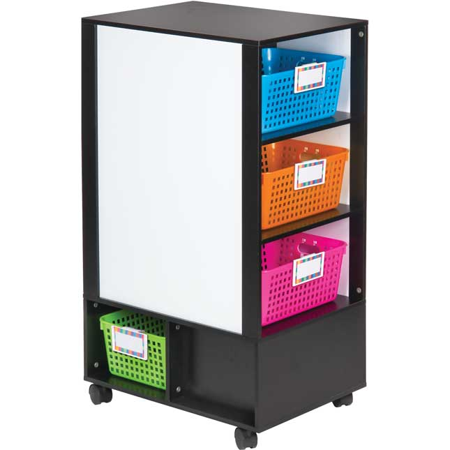 Really Good Active Learning Center™ - Black With Neon Baskets And Label Holders