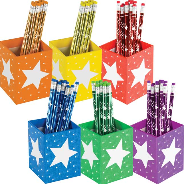 Group-Color Pencil Organizers - 6 Colors