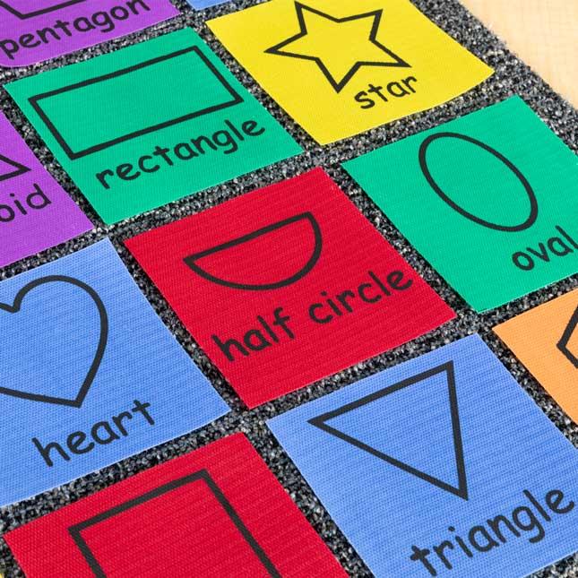 Carpet Mark-Its™ - Shapes - 26 carpet squares