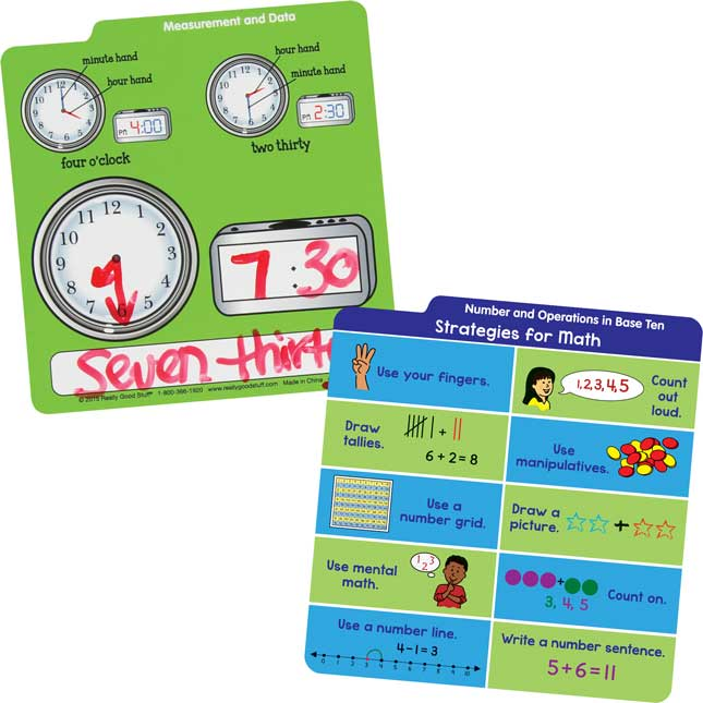 ELA and Math Desktop Buddies™ With Sleeves - Grades K-1