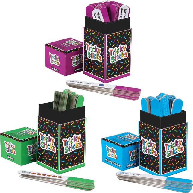 Tricky Sticks™ Math Kit - 3 Games, Grades K-3