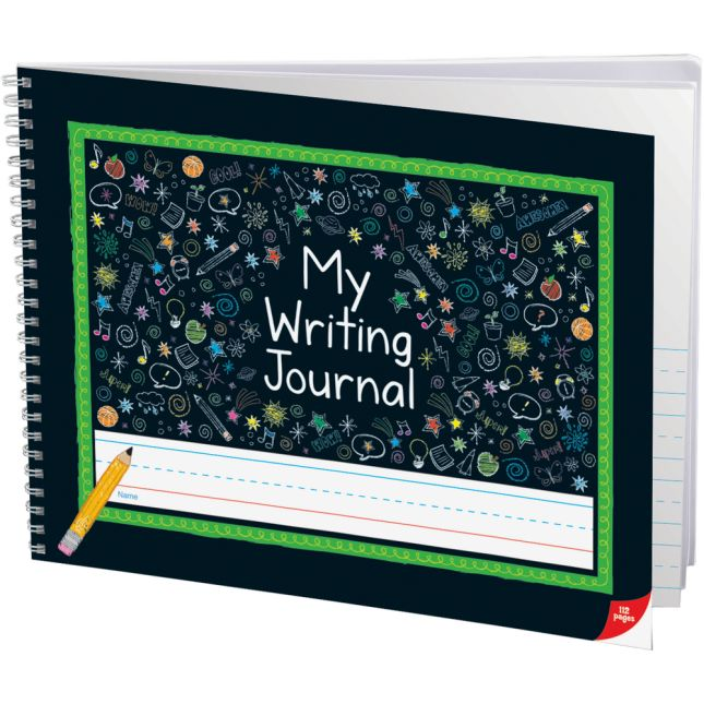 Spiral Landscape Draw and Write Journals, Chalkboard Style Cover - 6 Pack