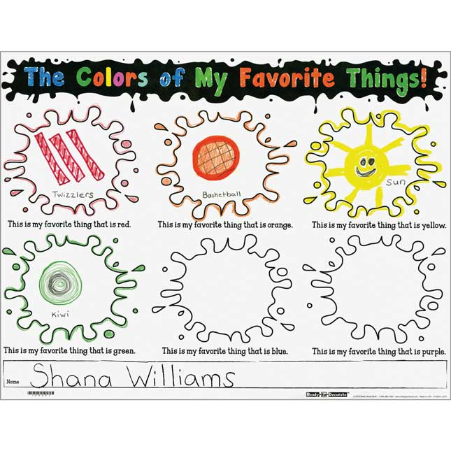 Ready-To-Decorate™ The Colors Of My Favorite Things Posters ...