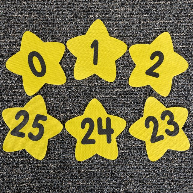 Carpet Mark-Its™ - Numbers Through 25 - 26 carpet spots