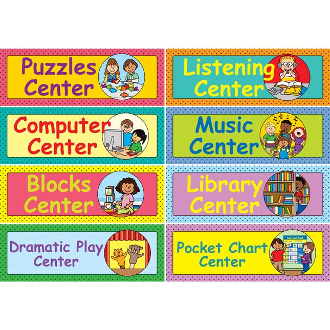 Early Elementary Centers EZ-Tuck Clip 'N' Track Pocket Chart™ Card Refill - 40 cards