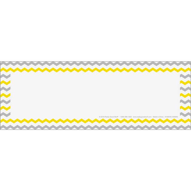 Store More Deluxe Chair Pocket Name Tag Refills - 6 Pack - Gray/ Yellow