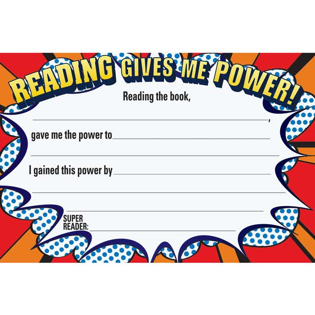Reading Gives You Powers! Card Refill