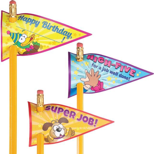 Celebration Pencil Flags