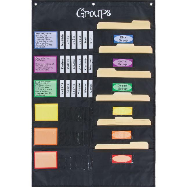 Small Group Management Pocket Chart™ - 1 pocket chart set