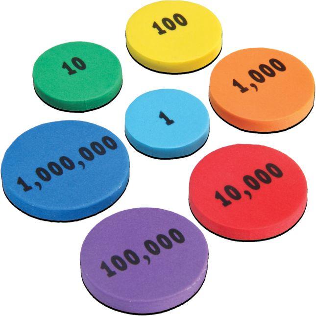 Place Value Foam Tokens Demonstration Magnets
