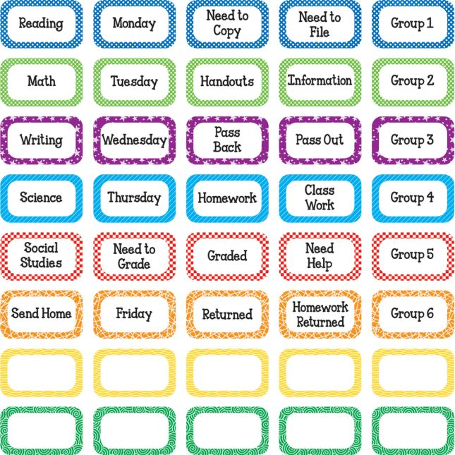 Paper Management Binder-Clip Labeling Stickers