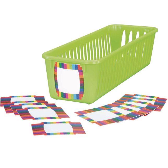 Pencil And Marker Basket Durable Plastic Labels - 12 labels