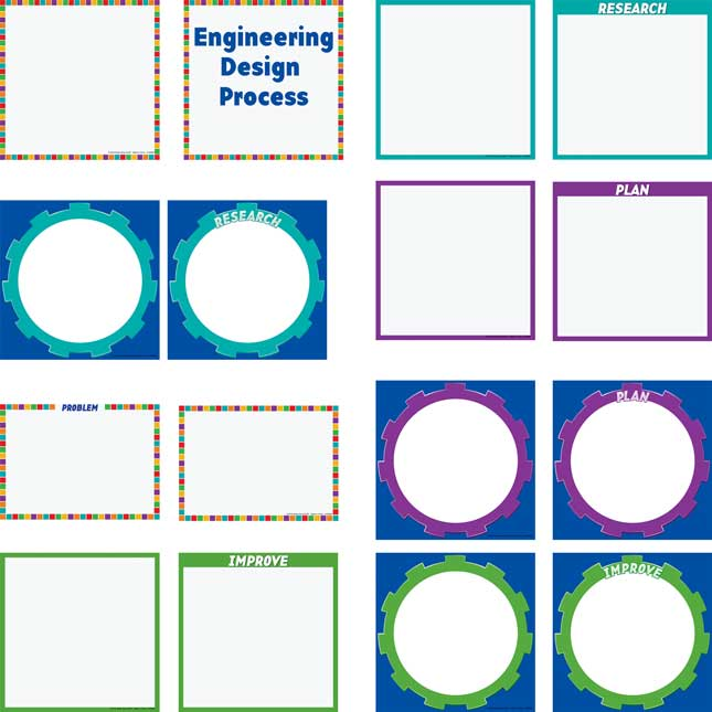 Engineering Design Process Pocket Chart™ Cards Refill - 14 cards