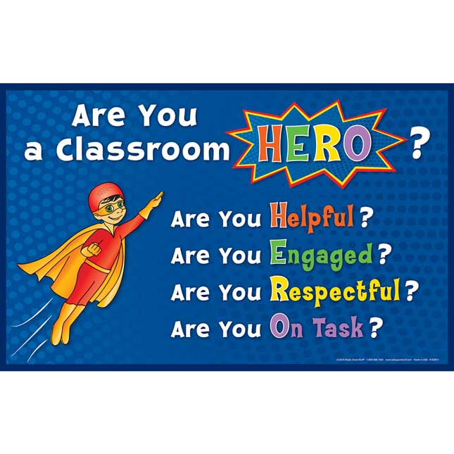 Super Classroom Hero Posters - 2 posters