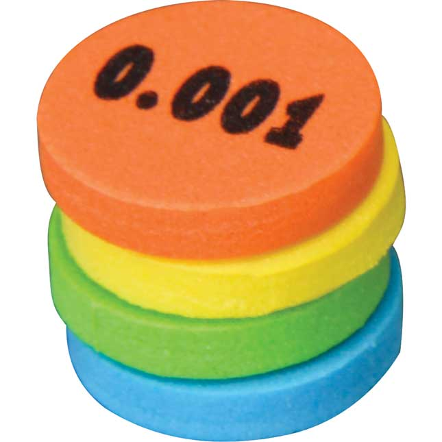 Decimal Place Value Foam Tokens