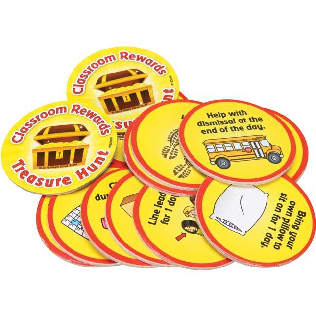 Classroom Rewards Treasure Hunt Kit - 140 tokens, 1 storage bag