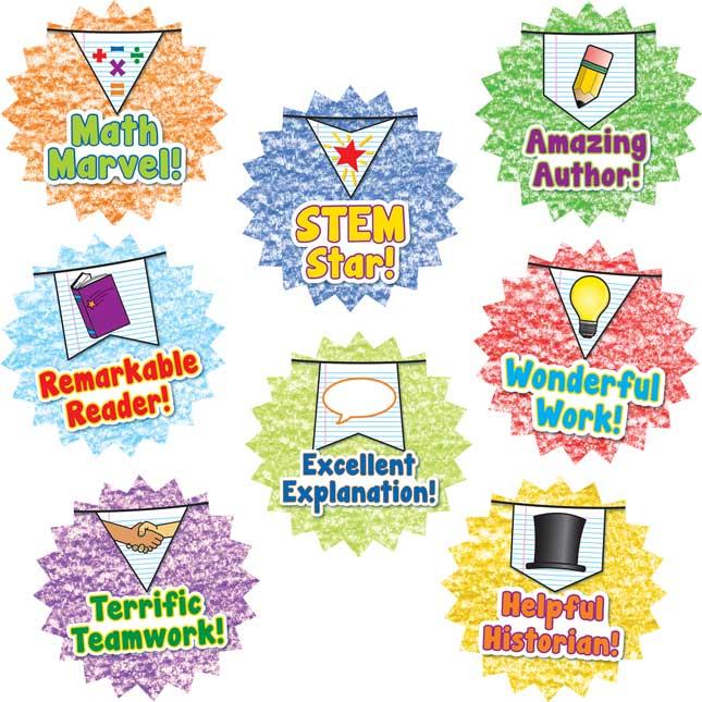 School Days Pennants ™ Reward Stickers