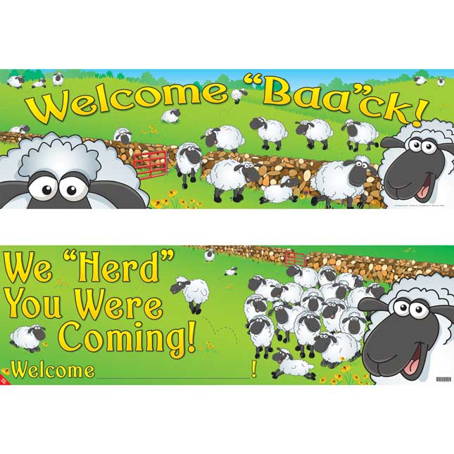 Welcome 'Baa'ck! Banner