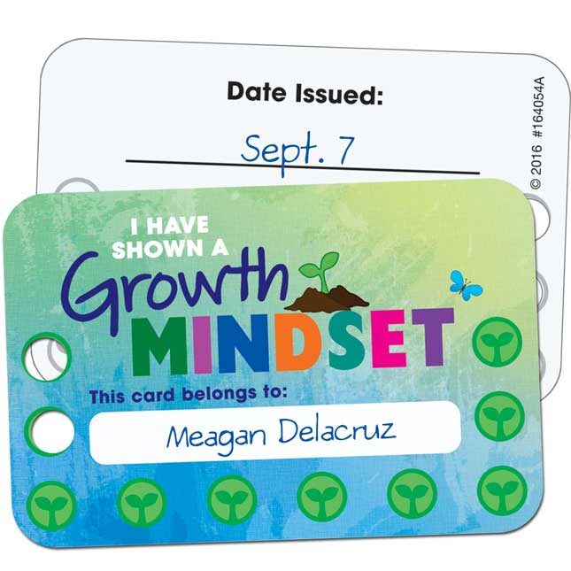 Growth Mindset Earn - And - Return Punch Cards