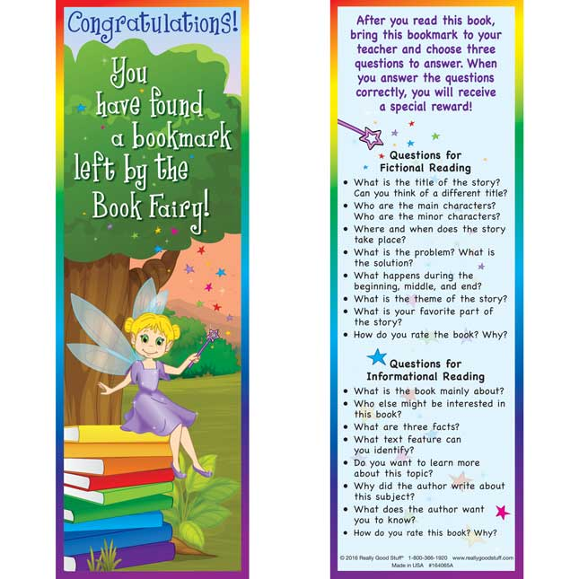 Book Fairy Bookmarks