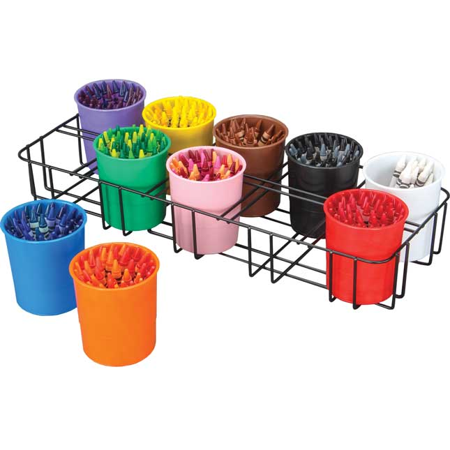 Color Organization Station - 1 rack, 10 cups