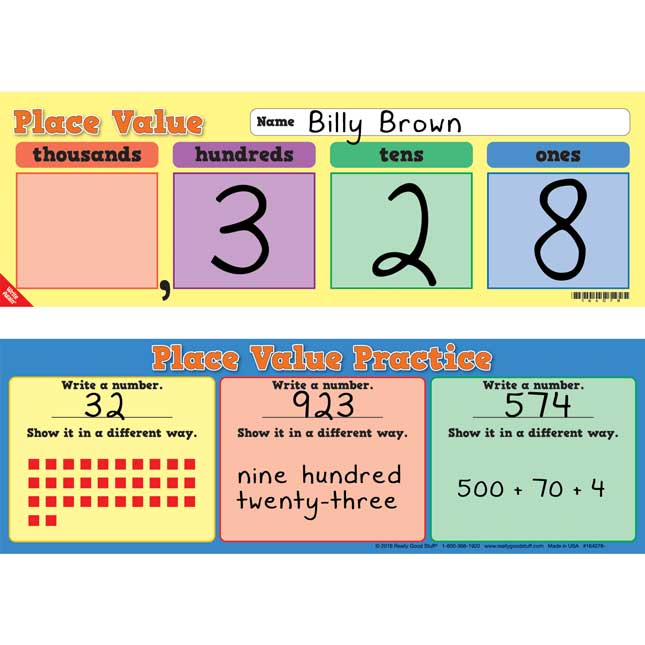Place Value Write Again® Cards - Primary