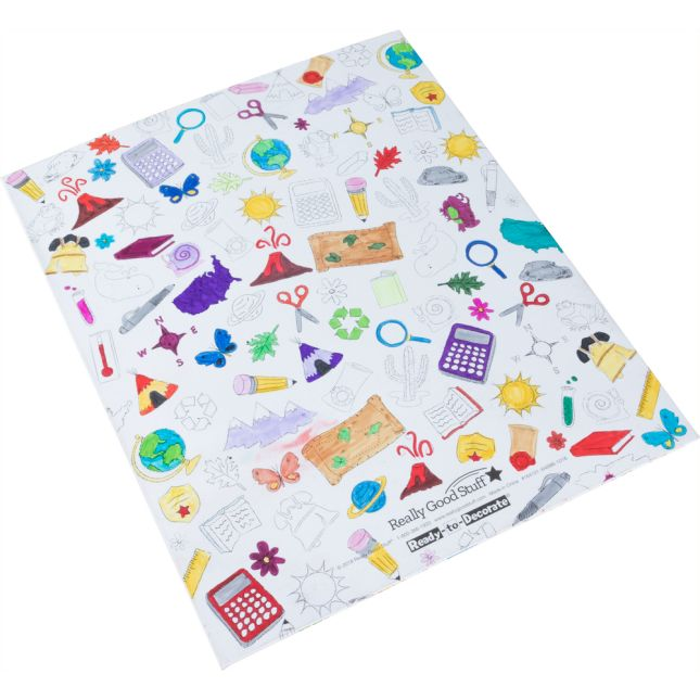 Ready-To-Decorate® Homework Folders - 12 folders