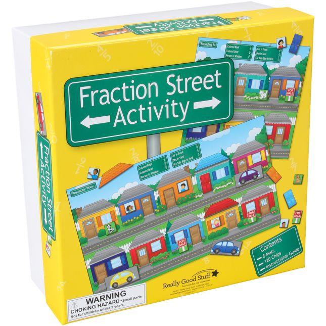 Fraction Street Activity - 8 mats, 120 pieces