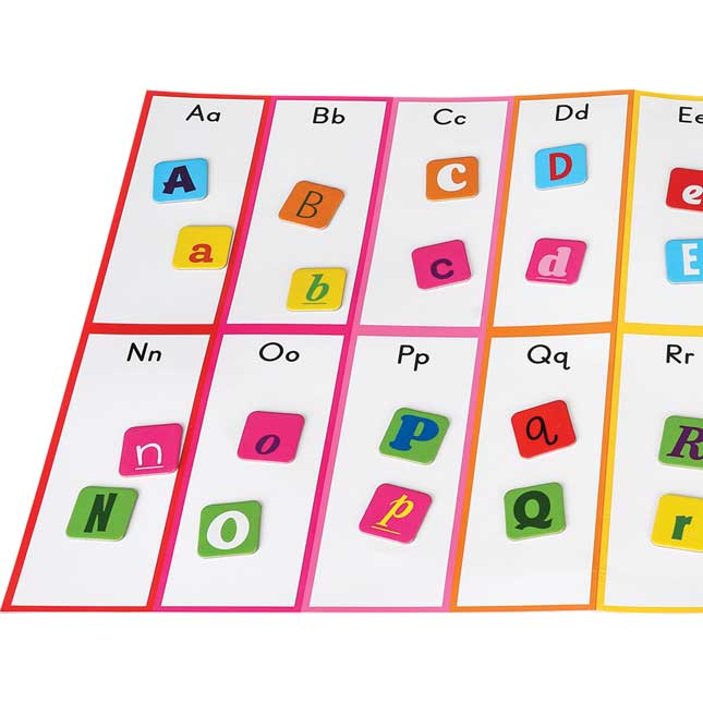 Letter Matching With Fonts Activity - 1 mat, 168 letters