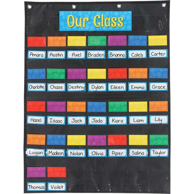 Our Class Management Pocket Chart™ - 1 pocket chart, 188 cards