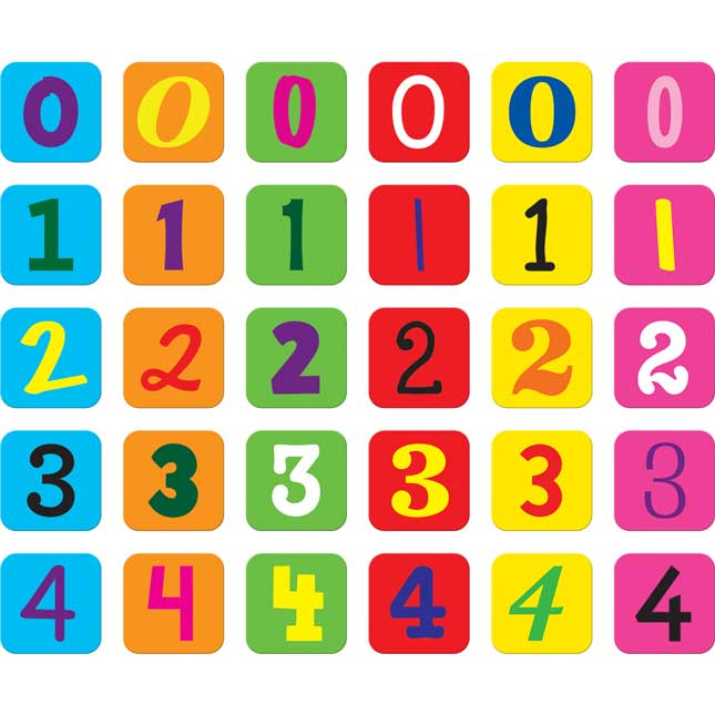 Mixed Fonts Number Chips