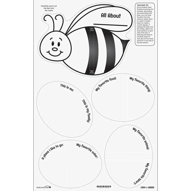 Ready-To-Decorate® About Me 3-D Bees - 24 bees