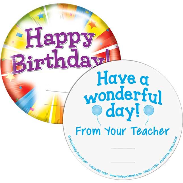 Classroom Birthdays Kit - 24 pencils, 24 tuxes