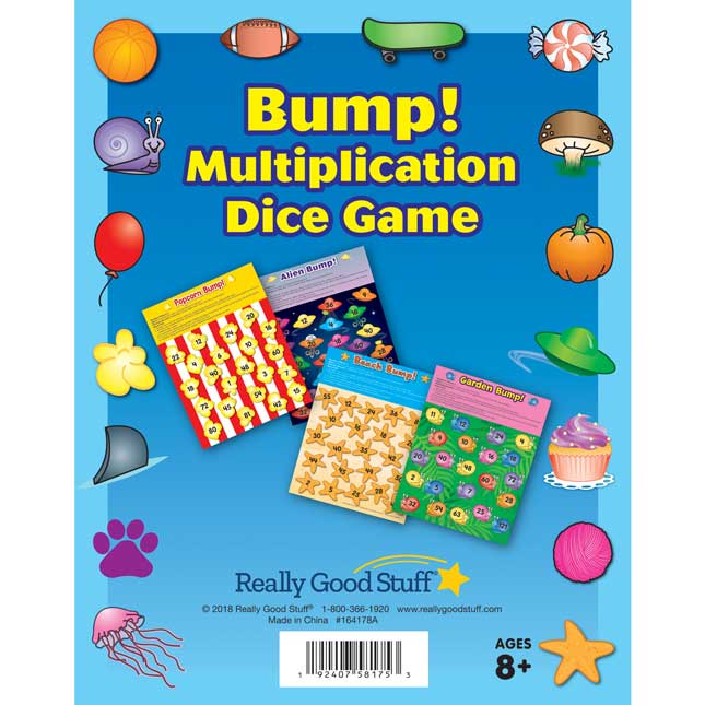 Bump! Multiplication Dice Game