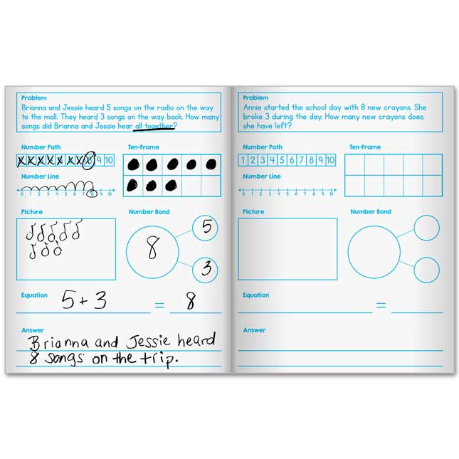 Scaffolded Math Journals - Addition And Subtraction Through 20 - 12 journals