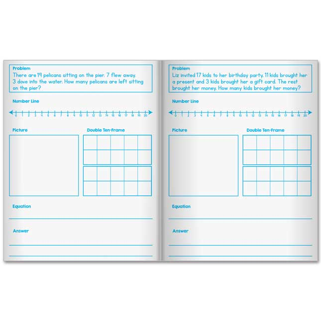 Scaffolded Math Journals - Addition And Subtraction Through 20