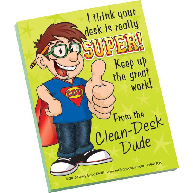 Clean-Desk Dude Note Pads