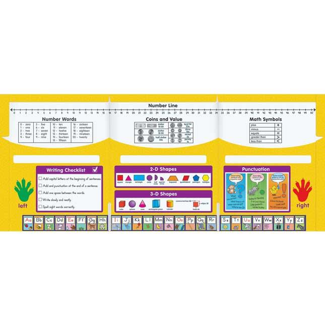 Homework Helper Tri-Fold 3-Pocket Folders - Primary