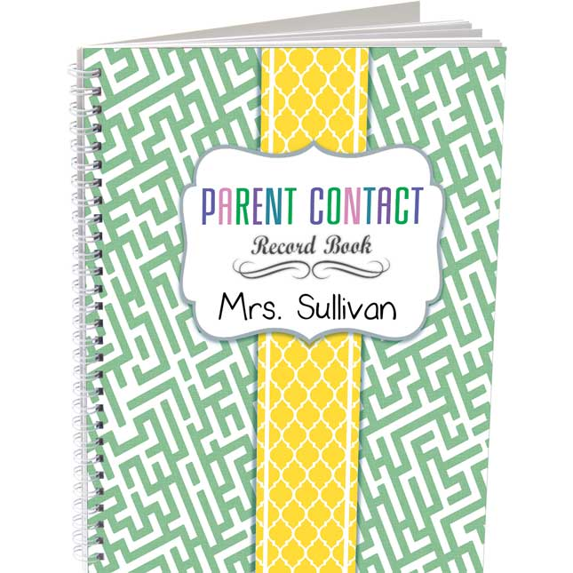Parent Contact Record Book - Couture Style