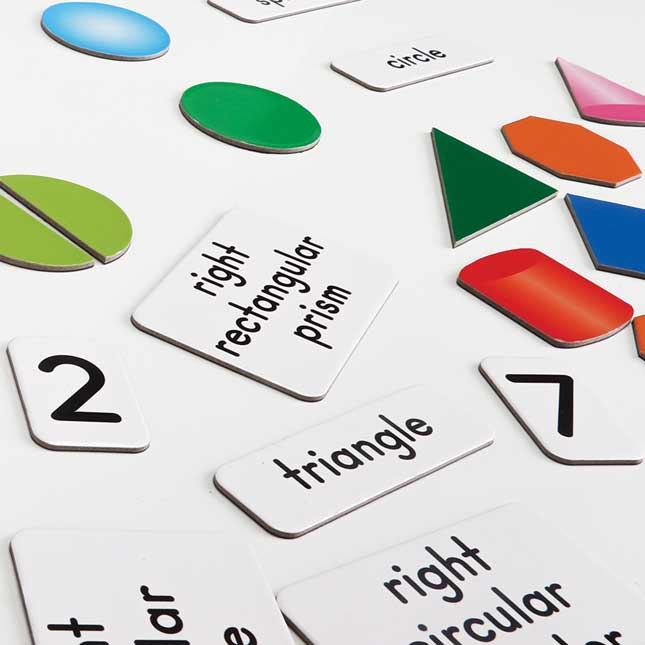 Math Magnets - Flat And Solid Shapes