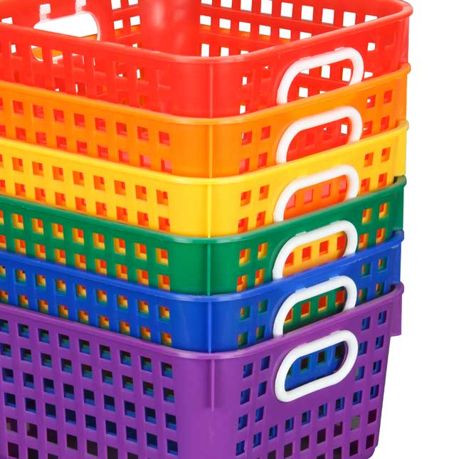 Group Colors For 6 - Book Baskets, Square