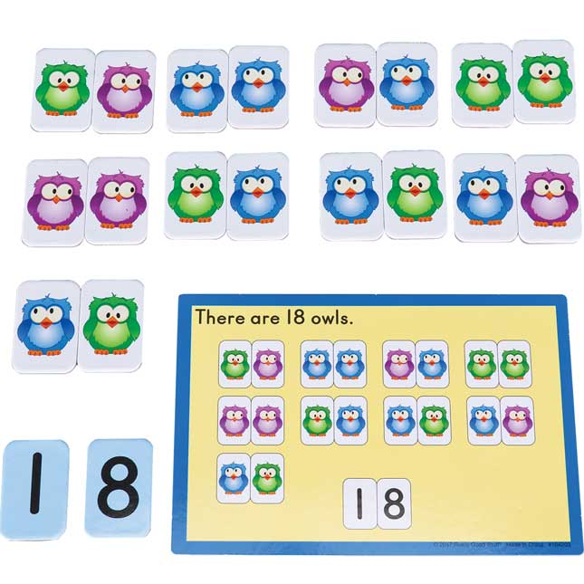 Numbers To 20 Magnets And Task Cards Kit - 160 magnets, 40 cards
