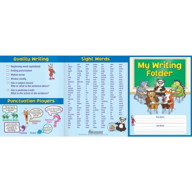 My Writing Tri-Fold 3-Pocket Folders