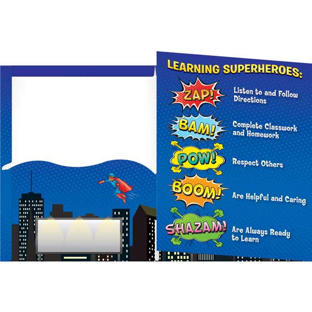 Learning Is My Superpower! Tri-Fold 3-Pocket Folders