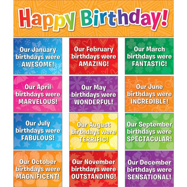 Celebrating Birthdays Space-Saver Pocket Chart™ Cards Refill
