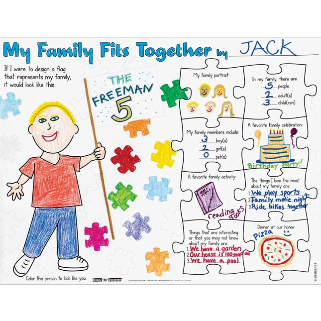 Ready-To-Decorate® My Family Fits Together Posters