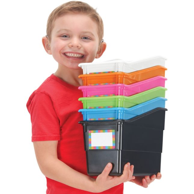 Neon Pop 6-Pack Durable Book And Binder Holders