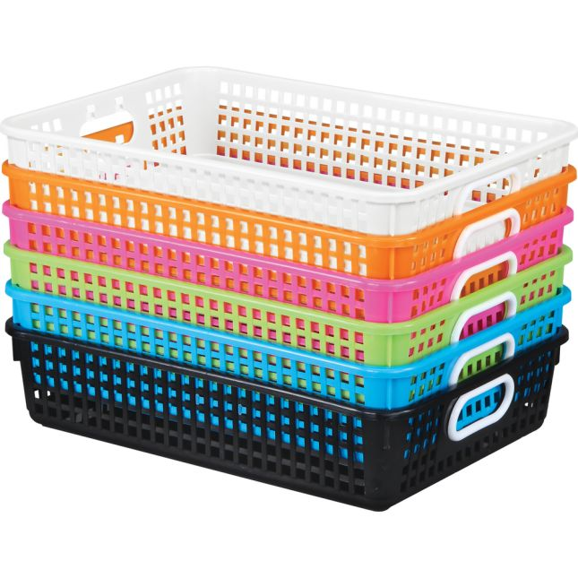 Neon Pop 6-Pack Classroom Paper Baskets
