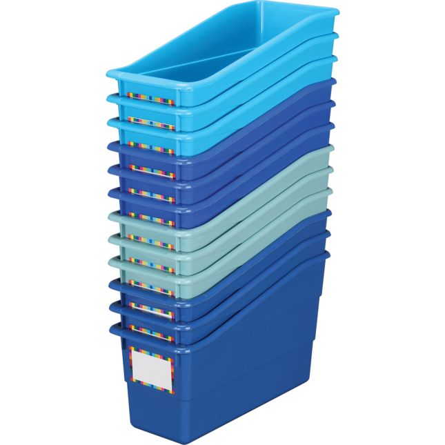 Durable Book And Binder Holders - True Blue 12-Pack