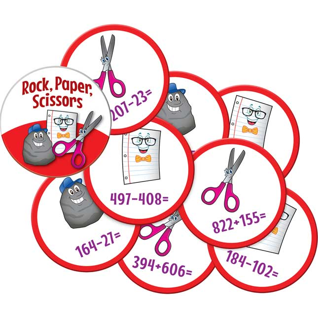 Rock, Paper, Scissors Math Game - Addition And Subtraction Through 1,000 - 1 game